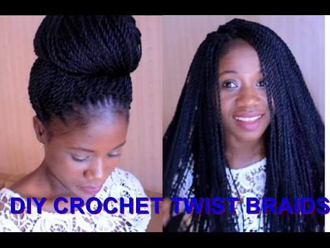 How to - Crochet Braids Twist / Step By Step Tutorial - YouTube