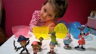 Джейк и пираты Нетландии Открываем большие яйца с игрушками Kids video Для детей
