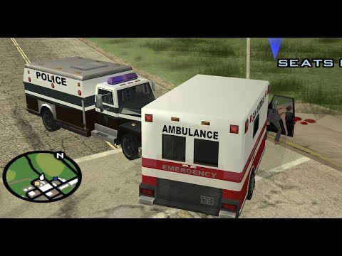 GTA San Andreas - How To Do The Paramedic Mission At The Very Beginning Of The Game