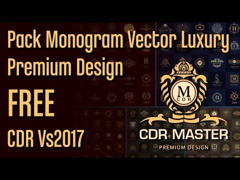 Pack Monogram Vector Luxury Premium Design FREE CDR VS2017