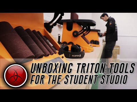 Triton Tools unboxing for our new Student Studio!