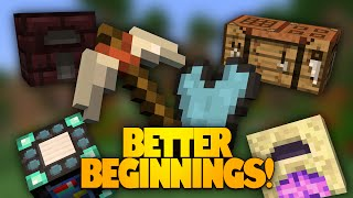 Minecraft Mods | Better Beginnings Mod | New Items & Recipes! (Mod Showcase)