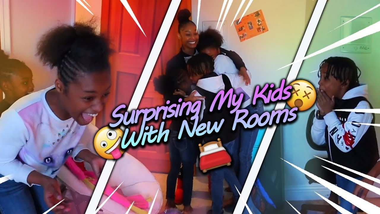 Surprising My Kids With Brand New Rooms!  Youtube