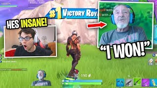 Reacting to a 74 YEAR OLD who PLAYS FORTNITE! (he