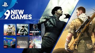 9 New Games on PlayStation Now   PS4