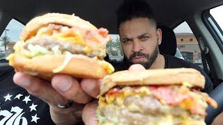 "Eating The Habit Burger's ""Double Char Burger"""