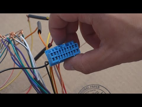 How To Connect A Radio Harness To A Metra Wire Harness With A Microbypass