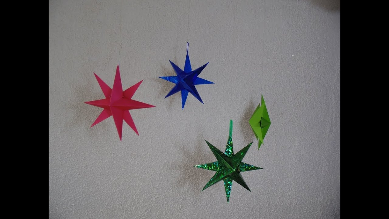 C mo hacer estrella de papel para navidad youtube - Estrellas de papel ...