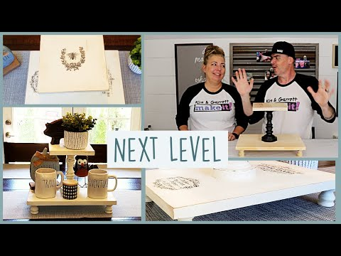 2 Tier DIY Cake Stand | Farmhouse Rustic | Without Tools