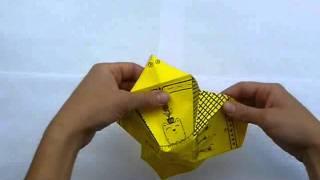 maceta en origami