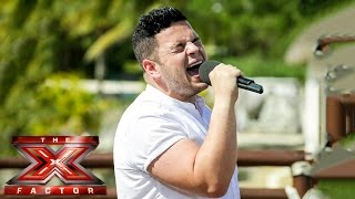 Paul Akister sings Bridge Over Troubled Water | Judges' Houses | The X Factor UK 2014