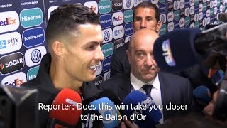 Cristiano Ronaldo Reacts To Nations League Victory