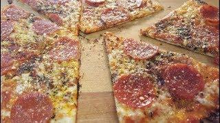 CRISPY TORTILLA PIZZA IN A CAST IRON SKILLET