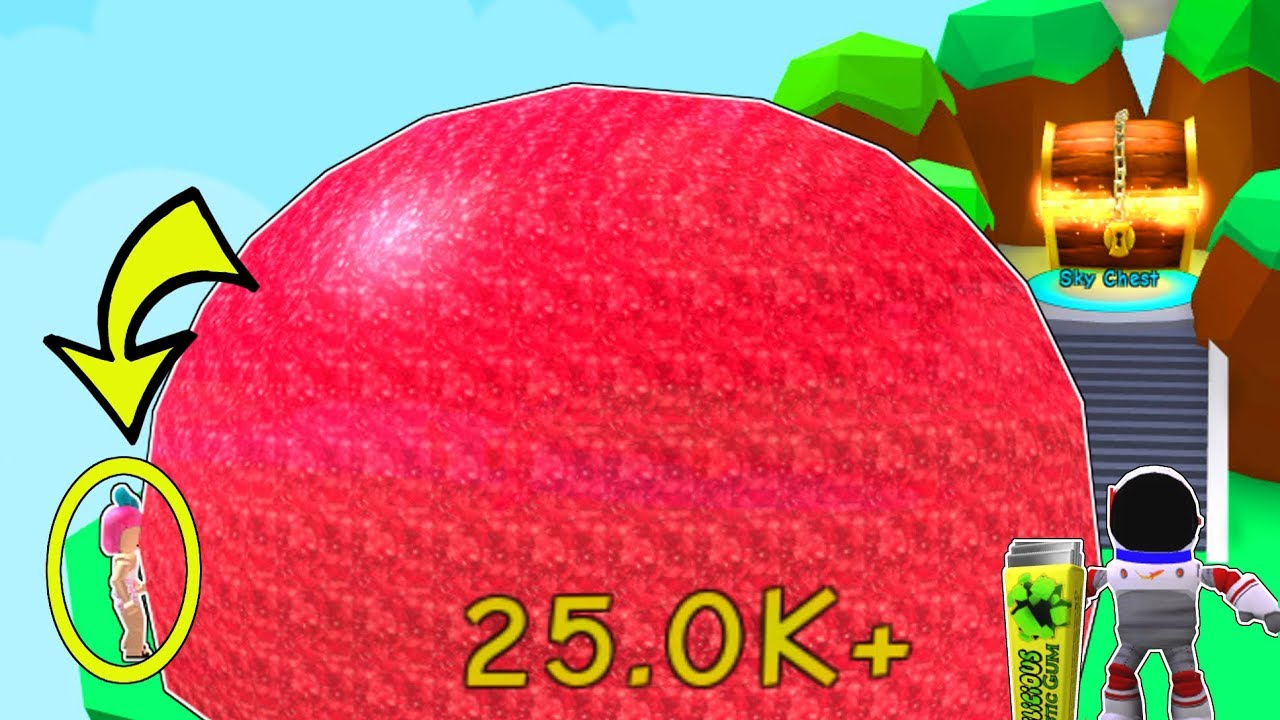 Roblox: BLOWING A BUBBLE BIGGER THAN A PLANET!!!