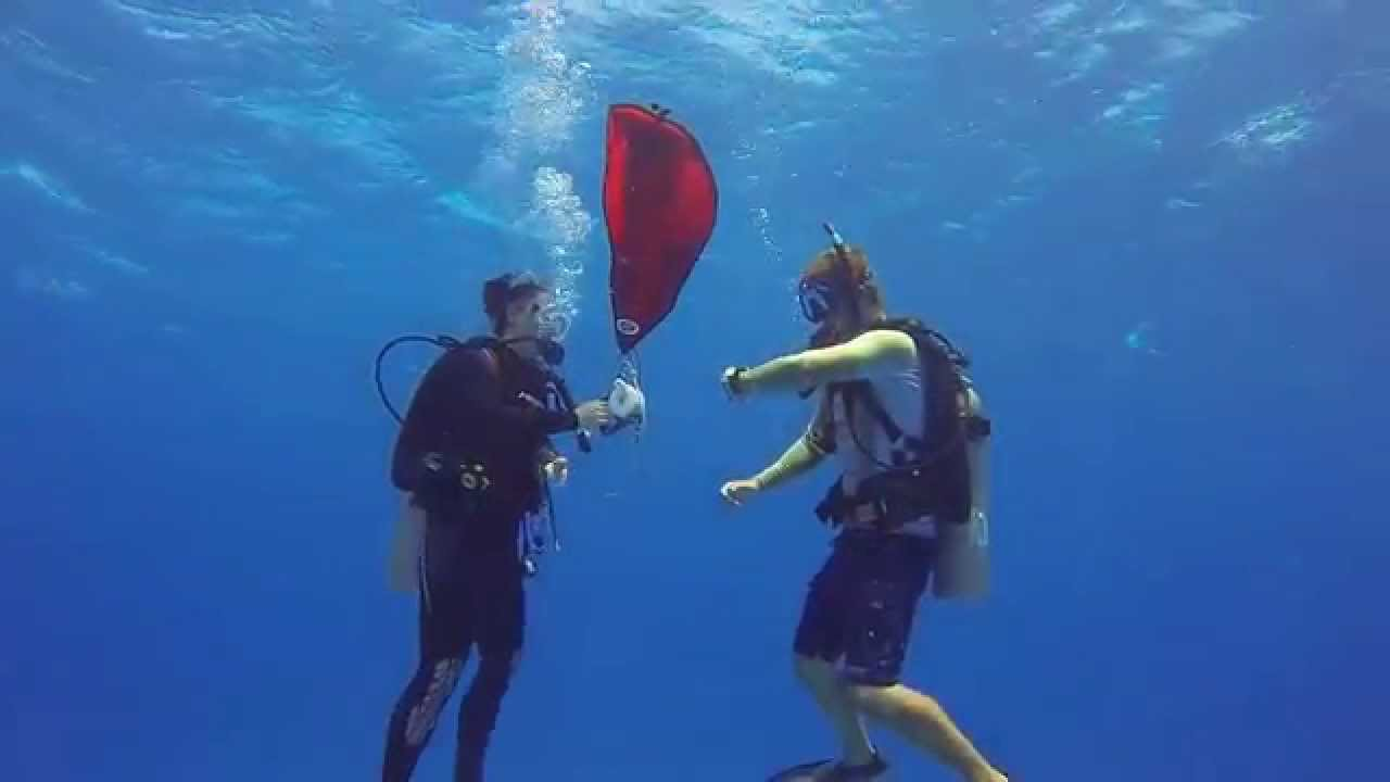 Blue water safety stop with lift bag youtube - Dive training magazine ...