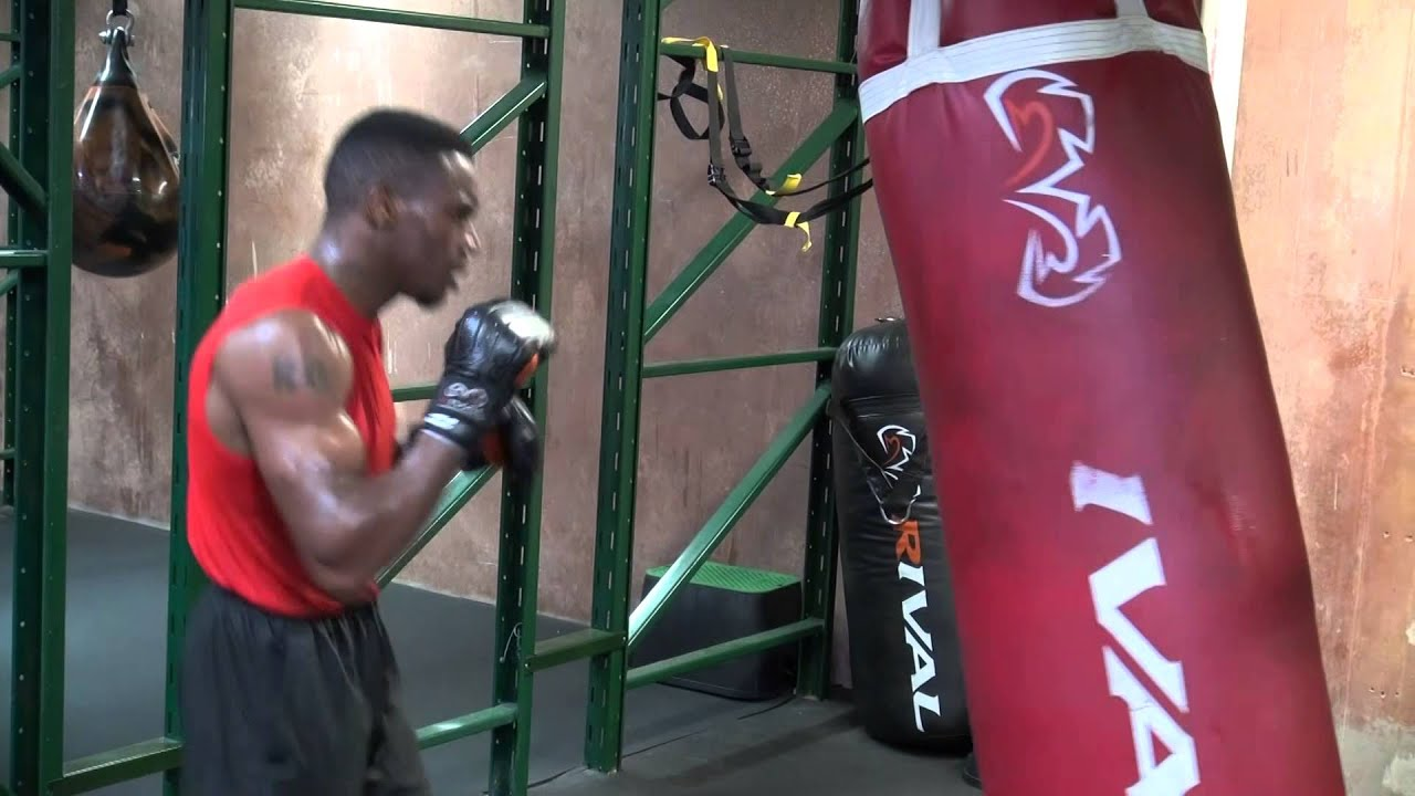 Keandre Gibson Working The Heavy Bag At Roy Jones Jr Fight Academy Mayweather Boxing Channel