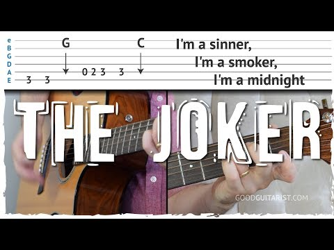 """The Joker"" Guitar Tutorial - Chords & Bassline combined 