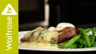 Lamb Steaks with Mint Béarnaise Sauce | Waitrose