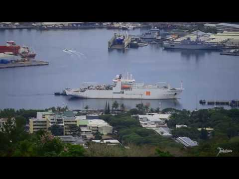 Cable layer Vessel RENE DESCARTES was in Papeete Tahiti-
