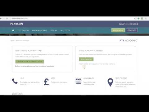 How to register to PTE Academic and book a test