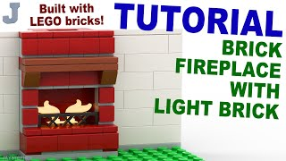 Tutorial - Lego Fireplace With Light Brick [cc]