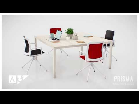 Prisma - office desks with a design inspired by a Nordic style