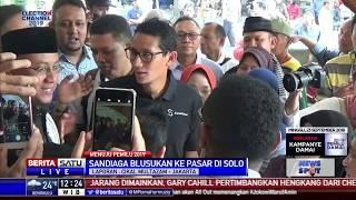 Sandiaga Uno Blusukan ke Pasar di Solo