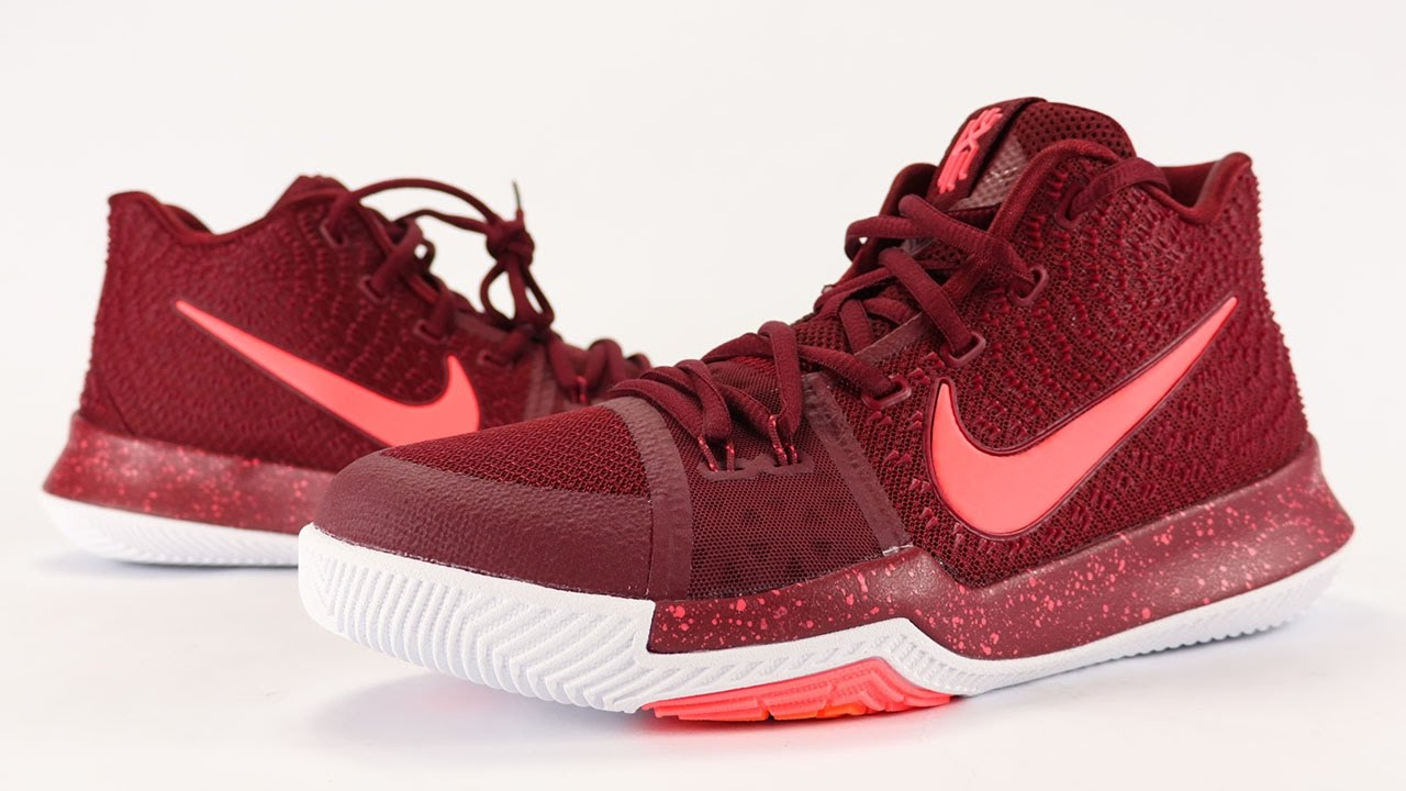 brand new d2c23 73977 Nike Kyrie 3 Warning Hot Punch Team Red Review