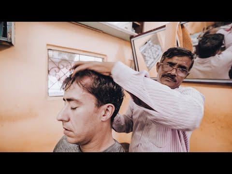 CRAZY INDIAN BARBER HEAD & BODY MASSAGE ASMR In Rishikesh (Nomad Barber - No Talking)