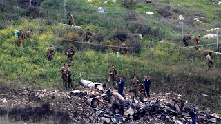 Israeli fighter jet crashes after being shot at by Syrian air defences