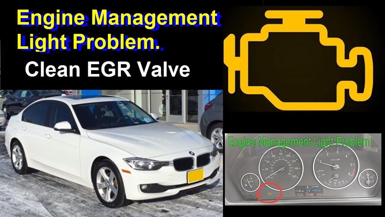 How to Clean BMW 320 d F30 F31 EGR Valve - replacement - Fix Motor Engine  pale Light fault problem