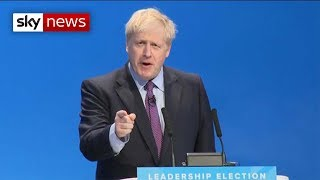 Boris Johnson's first speech as new Tory leader