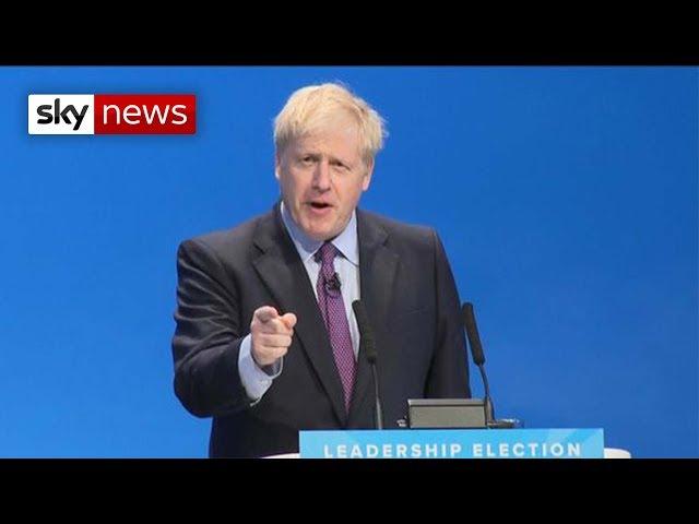 Boris Johnson's first speech as new Tory leader