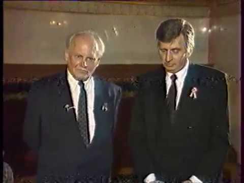 MTV2 1992.03.15.  Antall József, Göncz Árpád interjú