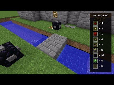 Minecraft Tutorial: Redstone Piston Drawbridge