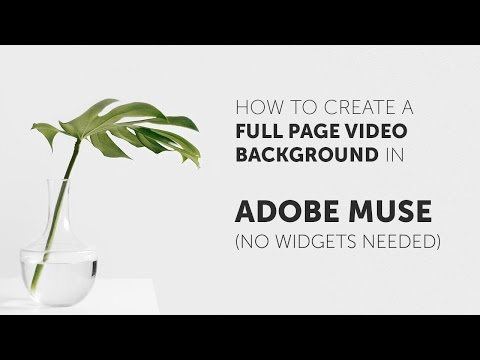 How To Make A Video Background In Adobe Muse (No Widgets Needed)