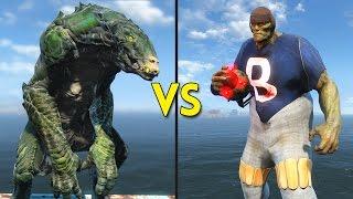 Fallout 4 - 75 FOOTBALL MUTANTS vs 25 GATORCLAWS - Battles 61
