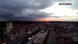 Pszczyna, wschód słońca - 23.08.2014