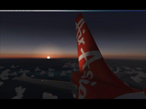 AirAsia A320 Kuala Lumpur - Kota Kinabalu (FSX)