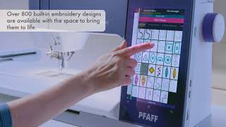 Most Expansive Tablet-Like Screen - PFAFF® creative icon™ sewing and embroidery machine
