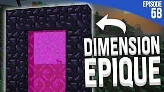JE CRÉE UN PORTAIL VERS UNE AUTRE DIMENSION ! | Minecraft Moddé S4 | Episode 58