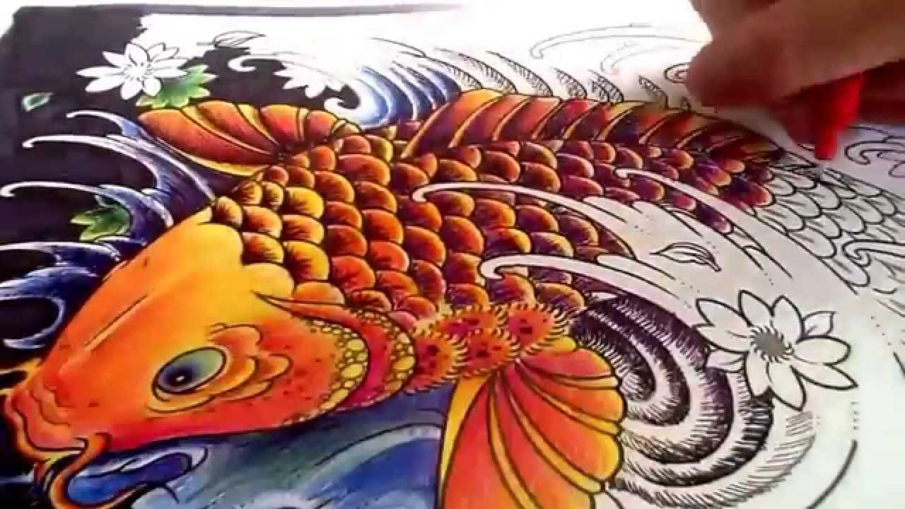 Koi Fish speed colour. - YouTube