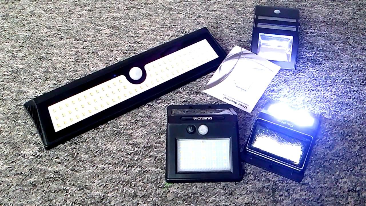 Solar LED Wandleuchte Wandlampe mit Bewegungsmelder Kunststoff weiß SO42-1