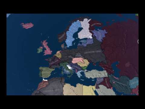 OP Germany, U.K, USSR. Timelapse, Hearts Of Iron 4