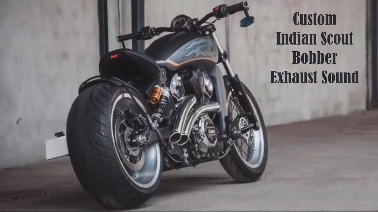 custom indian scout bobber exhaust sound