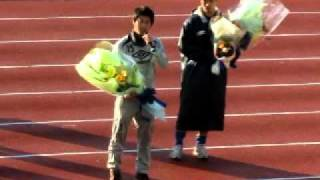 横河武蔵野FC 野木健司・長沼圭一 退団セレモニー