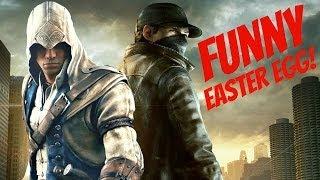 Watch Dogs Funny Assassin's Creed Easter Egg!