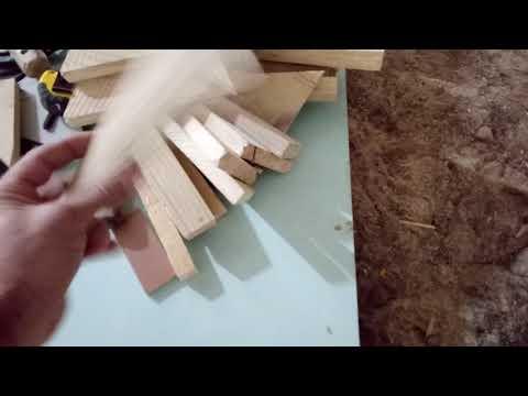 Деревянный пол. Шпонированная доска со снятой фаской.