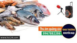 Thu âm phát loa quảng cáo chợ hải sản Phú Vân