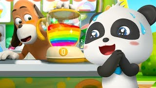Colorful Juice Vending Machine | Colors Song | for kids | Nursery Rhymes | Kids Songs | BabyBus